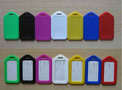 10 Travel Luggage Bag Tag Plastic Suitcase Baggage Office Name Address ID Label 7
