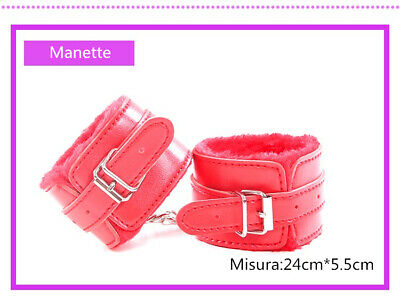 Set Kit 8 Pezzi Slave Costrittivo Slave Manette Morso Frusta Mascherina Pinze 3