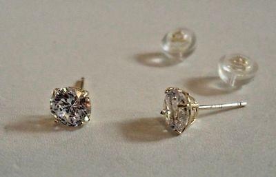 14K Solid Yellow Gold Stud Earrings W/ .50 Ct Flawless Diamonds/ 5Mm In Diameter 4
