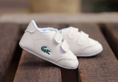 Baby Boy Girl White Pram Shoes Toddler PreWalker First Shoes Newborn to 18Months 2