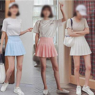 Girls School Uniform Skater Skirt Kids High Waist Pleated Skirt Tennis for Women 7