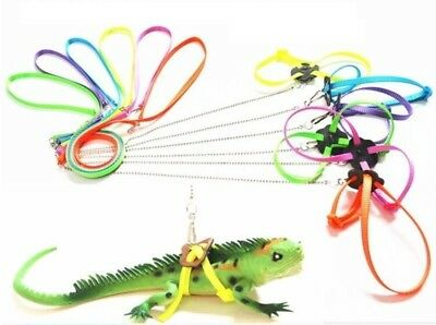 1pc Reptile Lizard Gecko Bearded Dragon Harness and Leash Adjustable Strap 2