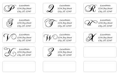 Monogrammed & Personalized Return Address Labels.  400 Count, 1/2 x 1.75 Inch. 3