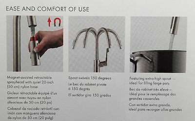 New Hansgrohe Cento High Arc Kitchen Faucet Steel Optik Finish