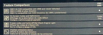 Engine Light Codes >> Bosch Pocket Scan Obd1000 Obd2 Code Reader Reads Erase