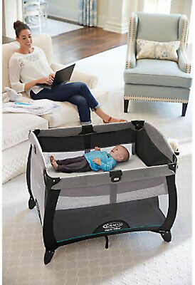 Graco Baby Pack 'n Play Quick Connect Portable Napper Playard Darcie NEW 6