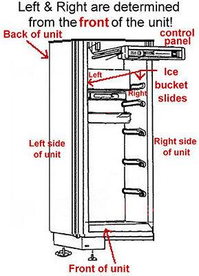 SubZero Ice Bucket Slides - Left & Right 7014649 & 7014661 3