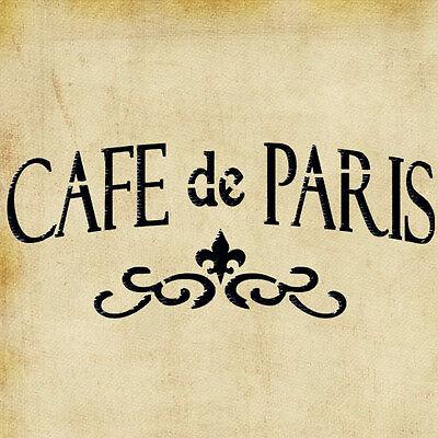 Vintage French Stencil Decal French Paris Cafe Stencil Cafe De Paris Stencil