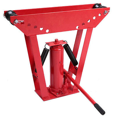 Hot Heavy Duty 12Ton Hydraulic Manual Pipe Bender 6 Dies Tubing Tube Bending Red