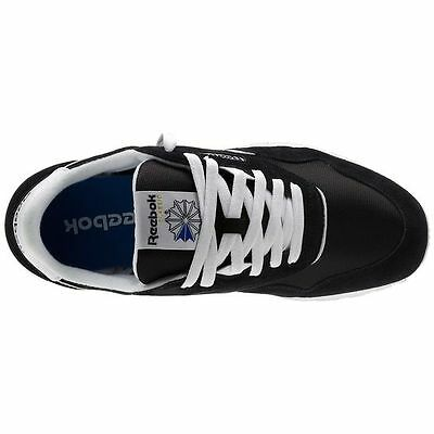 70bbc67f91a ... Reebok 6604 CL Nylon Classic BLACK White Casual Walking Comfort Sneakers  for MEN 6