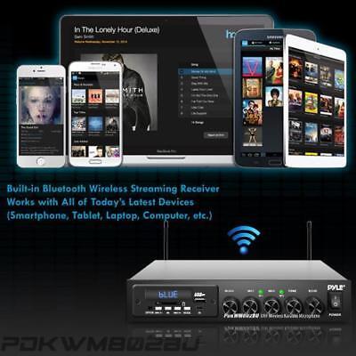 Pyle Wireless Microphone & Bluetooth Receiver System, Audio Sound Mixer (2) Mics 7