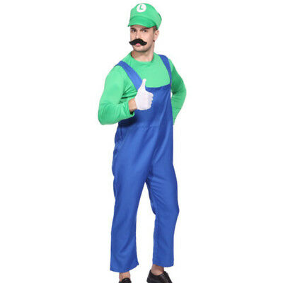 Mens Boy Kids Adult Super Mario Luigi Brothers Costumes Hat Fancy Party 7