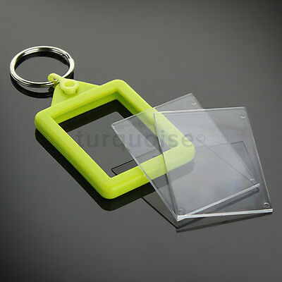 Personalised Custom Photo Gift Gel Keyrings Key Fobs 45 x 35 mm | Passport Size 8
