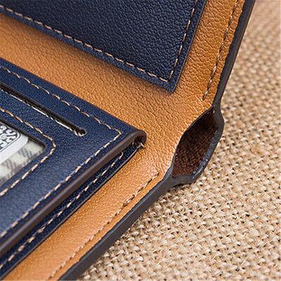 Men's Bifold Leather Credit ID Card Holder Wallet Billfold Purse Clutch Billfold 6