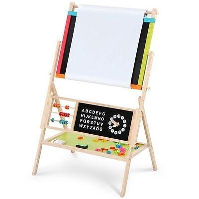 3 In 1 Wooden Art Easel Childrens Kids Drawing Black White