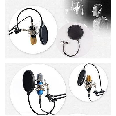 New Double Layer Studio Microphone Wind Screen Mask Gooseneck Shield Pop Filter 2