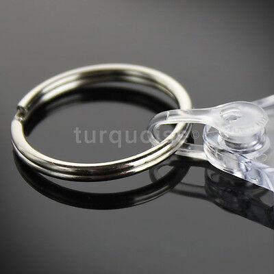 1000x Premium Quality Clear Acrylic Blank Photo Keyrings Key Fobs 50 x 35 mm
