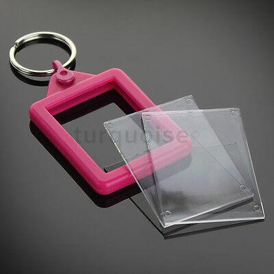 Personalised Custom Photo Gift Gel Keyrings Key Fobs 45 x 35 mm | Passport Size 7