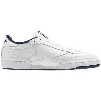 fc0c7685a35b4 ... Reebok Club C 85 AR0457 White Navy Leather Casual Men Shoes Fast  Shipping 3