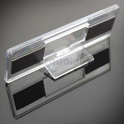 5x Premium Quality Clear Acrylic Blank Fridge Magnets 141 x 45 mm Size Photo 7