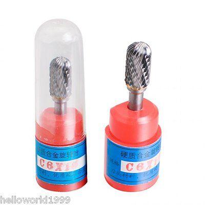 5 Pcs G6 Cylindrical Cut Tungsten Carbide Dental Acrylic Bur Cutting Die Grinder