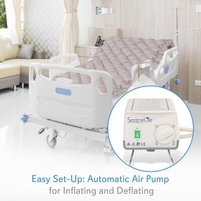 SereneLife Hospital Bed Air Mattress - Bubble Pad Mattress w/ Electric Air Pump 5