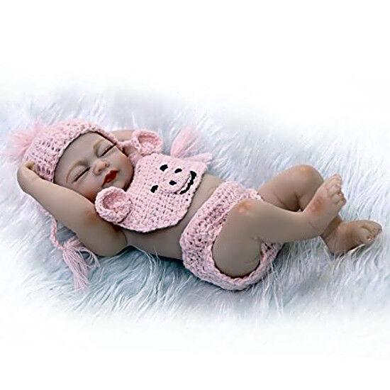 "Hot 10/"" Reborn Full Body Silicone Vinyl Baby Boy Doll Lifelike Newborn Bebe Toy@"
