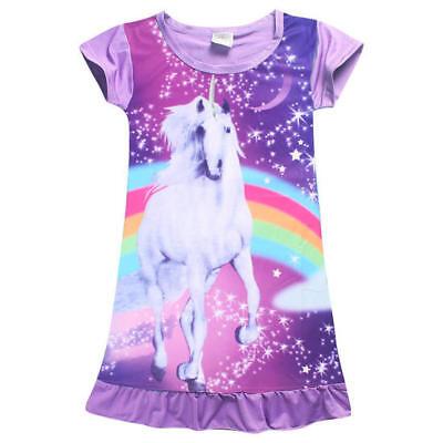 f80a606ba6e8c ... 7 sur 9 Enfant Fille Manches Longues Robe de Pyjama Licorne Pyjama  Vêtements de nuit 9