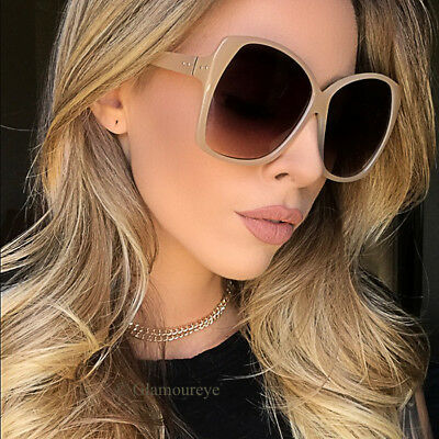 Large CAMELLIA Jackie O Faceted Big Designer Geometric Oversized Sunglasses L