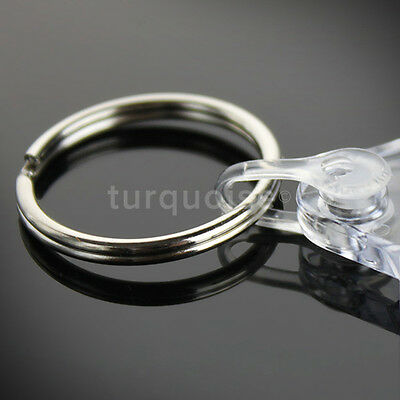 10x Clear Acrylic Blank Keyrings Key Fobs 35 x 24 mmSmall Size Photo