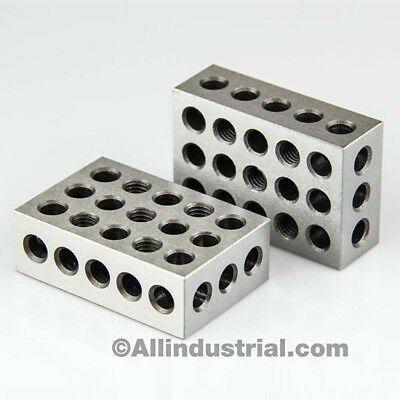 """5 Matched Pairs Ultra Precision 1-2-3 Blocks 23 Holes .0001"""" Machinist 123 2"""