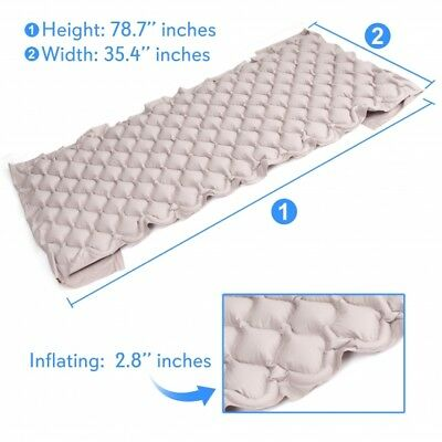 SereneLife Hospital Bed Air Mattress - Bubble Pad Mattress w/ Electric Air Pump 4