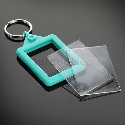 Personalised Custom Photo Gift Gel Keyrings Key Fobs 45 x 35 mm | Passport Size 9