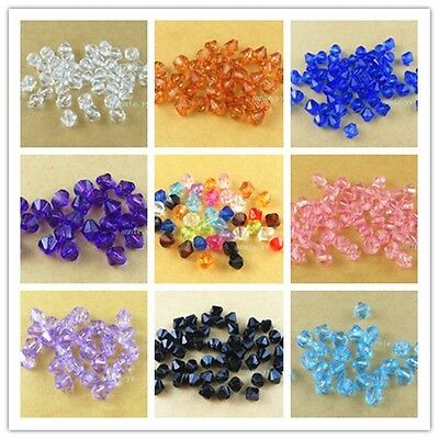 500Pcs 6mm Acrylic Spacer Loose Bicone Beads Bracelet Necklace Jewelry 2