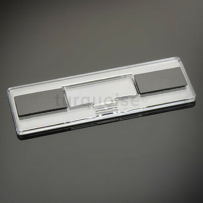 5x Premium Quality Clear Acrylic Blank Fridge Magnets 141 x 45 mm Size Photo 3