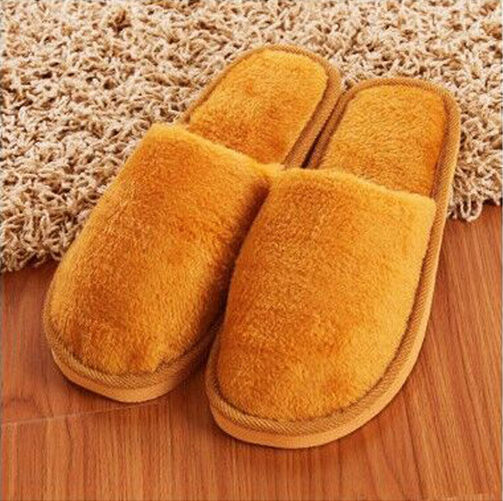 Men Cotton Plush Warm Slippers Home Indoor Winter Slippers Shoes 6
