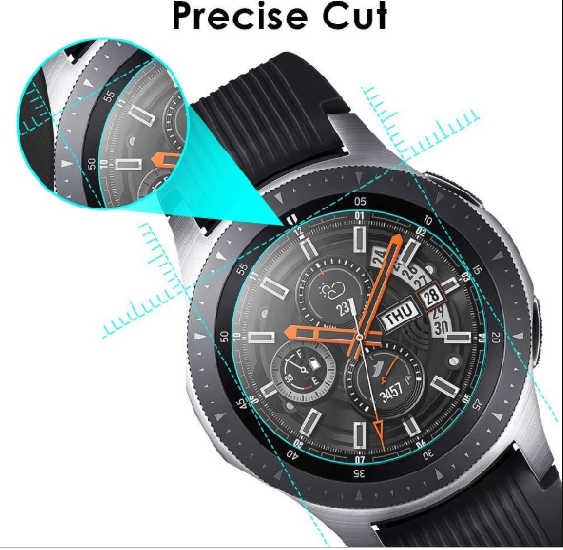 3xPACK Genuine Samsung Galaxy Watch 42/46mm 9H Tempered Glass Screen Protector 6