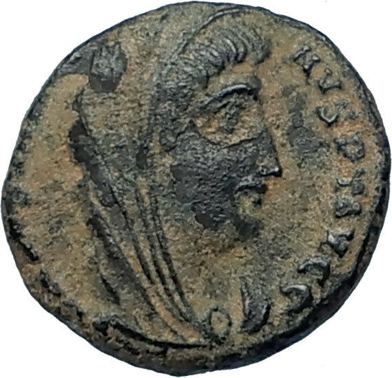 CONSTANTINE I the Great CHARIOT to GOD HAND in HEAVEN Ancient Roman Coin i68033 2