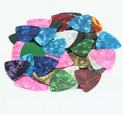 Acoustic Bulk Guitar Pick Picks Plectrum Celluloid Electric Smooth0.46mm 10X 3