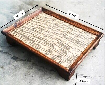 Wood Serving Tray Food Table Bamboo Tray Coffee Plate Rectangle//Square//Round C