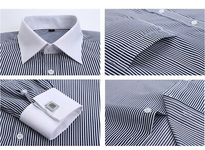 New Mens Solid Color Formal Slim Casual Long Sleeve Dress Shirts YC6301