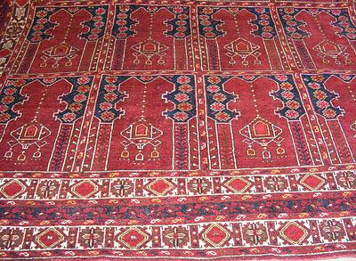 11.3x8.5 feet Antique islamic Beshir Turkmen Mosque prayer rug Saf Gebetsteppich 10 • CAD $9,059.12