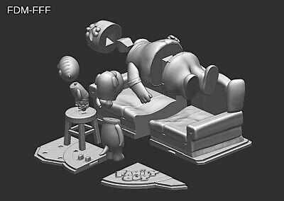 Family Guy (Griffin) File STL-OBJ for 3D Printing FDM-FFF DLP-SLA-SLS 8