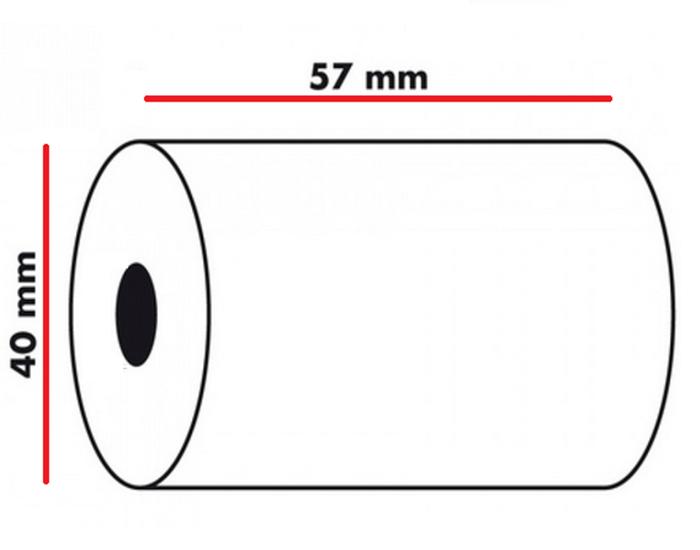 Ingenico iWL250 20 White 57x40mm PDQ Till Rolls UK SELLER
