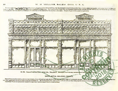 Mullins 1897 Architectural Metal Work CATALOG store fronts ornament grill vanes 5