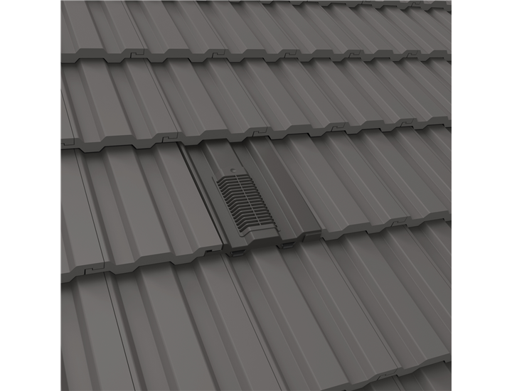 Manthorpe Mini Castellated in-line Vent Tile Redland 49 Forticrete V2 + Adaptor