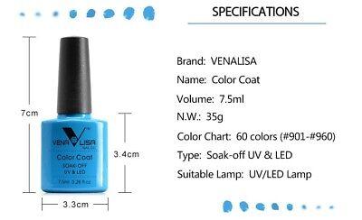 CANNI Venalisa Nail Gel Art Design Manicure 7.5Ml Soak Off Enamel Polish LED UV 6