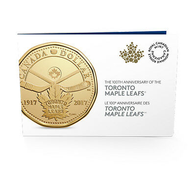 2017 Canada Toronto Maple Leaf 100th Anniversary $1 Dollar Loonie 5-Coin Pack 5