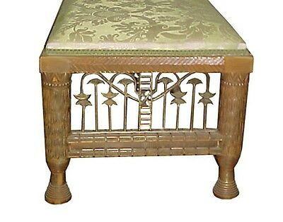 Antique Gilt Wood Bench w/ Lotus Carvings 1900-1950, France  #4409 3