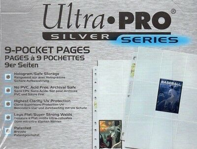 Ultra Pro Silver Series 9 Pocket Afl Pokemon Trading Card Sleeves 30 Pages 5
